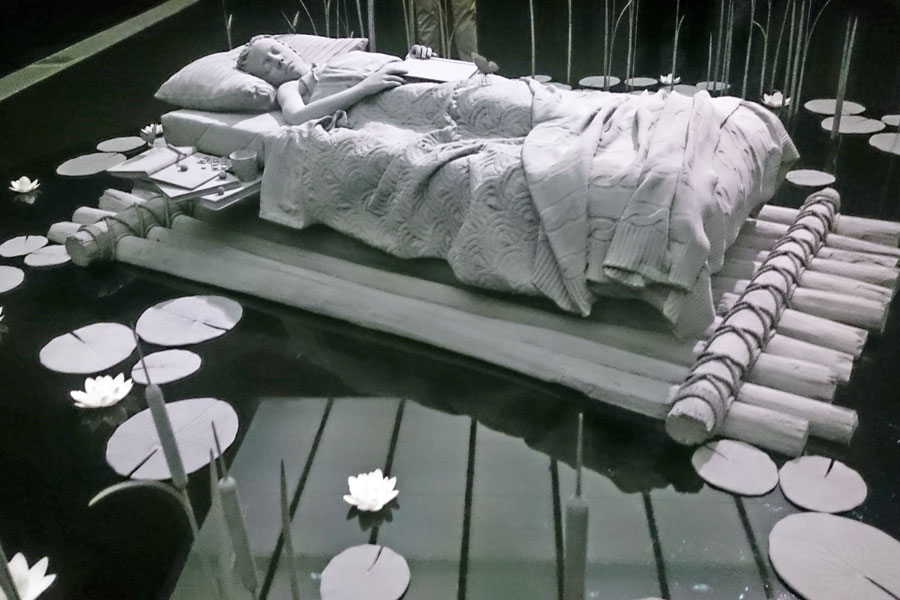 My bed a raft, the room the sea, and then I laughed some glome in me