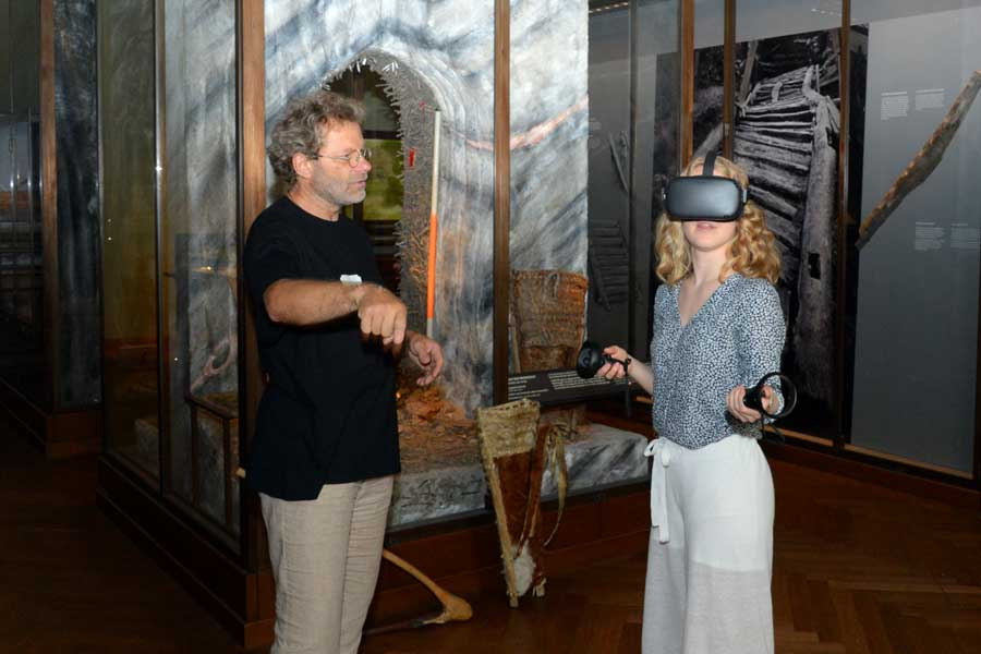 Virtual Reality Station im NHM Wien © NHM Wien, A. Schumacher